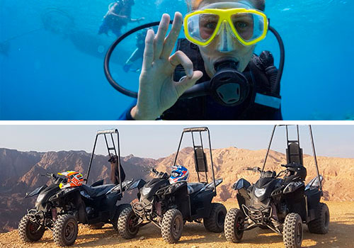 diving and atv